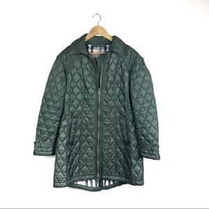 Burberry Baughton quilted Coat Size Large khaki